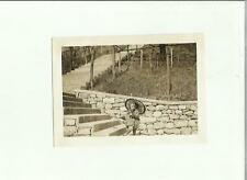 137003  FOTOGRAFIA FOTO ORIGINALE  bambina a lugano castagnola 1932