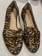 Next Forever Comfort Ladies Animal Print Leather Slip On Shoes Uk Size 7 W EU 41