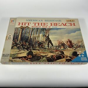 1965 Milton Bradley Vintage Hit the Beach World War II Board Game 4510