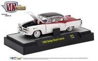 L113 32500 43 M2 MACHINES AUTO THENTICS 1955 Dodge Royal Lancer  WHITE 1:64
