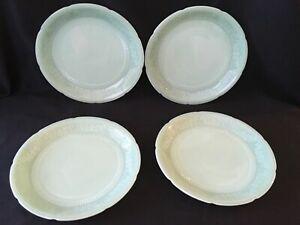 "Vintage Jade-ite (4) plates (9.25"" diameter)"