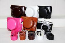 Leather Camera case bag Cover For Panasonic Lumix DMC-GF7 GF8