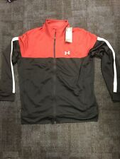 Under Armour Zip men's Jacket Red/Blk size Xl Nwt