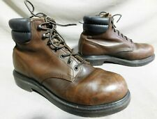 MENS RED WING BROWN LEATHER STEEL TOE HIKING FARM WORK BOOTS US SIZE 9 D