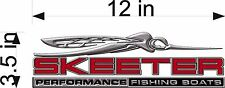 """SKEETER Boats 3D Bug / SINGLE / 12"""" RED Vinyl Vehicle Watercraft Decal Graphics"""