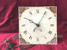 Good Early 30 Hour Grandfather Clock Movement & Dial
