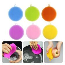 6 Stk Silikon Schwamm Scrubber Küche Waschen Haushalt Reinigung Bürste Lappen