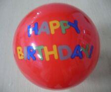 "Rubber Bouncy Ball,  9"" , Happy Birthday,"