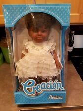 "Berjusa Creacion Tanya Doll Realistic 18"" African American Black Vintage Coa"