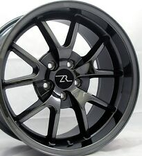 "18"" Black Chrome Mustang FR500 Wheels Staggered 18x9 18x10 5X114.3 05-15"