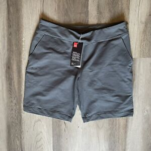 UNDER ARMOUR NWT Women's Gray Fitted Cotton Blend Golf Shorts-Size Medium
