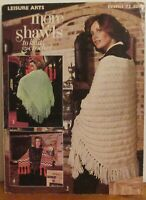 LEISURE ARTS MORE SHAWLS TO KNIT & CROCHET LEAFLET 73 - 1976