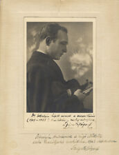 Joseph SZIGETI (Violinist): Signed Photograph with Two Autograph Inscriptions