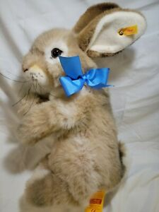 "Steiff Putsi Hase Rabbit Bunny Hare Large 40cm 15"" NWT 1993 button flag # 077876"
