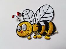 Bumble Bee flying Iron On Patch Sew On Transfer badge fancy Dress Brand New