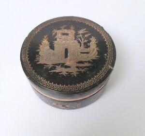 GEORGIAN PIQUE GOLD INLAID faux TORTOISE SHELL SNUFF BOX c1790 No 3