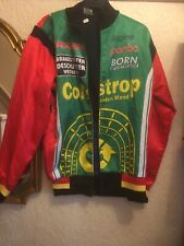Mens Vintage Silky Advertising Bomber Jacket Size M Multi Colour
