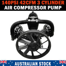 42CFM 3 Cylinder Full Cast Iron Air Compressor Pump 140PSI