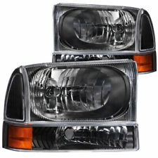 Anzo USA Crystal Headlights BK w/ 2PC Corner Lights for Ford F-250/F-350 99-04