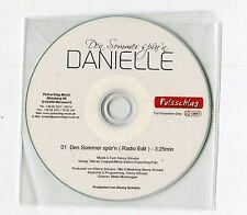 Danielle - cd-PROMO - DEN SOMMER SPÜR'N © 2014 - German-1-Track-CD pop SCHLAGER