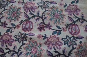 100%Cotton Handmade Indian Dressmaking Running Loose Fabric Craft Sewing 3 Yard
