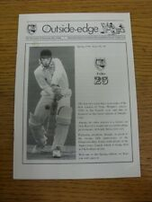 1996 Cricket: Gloucestershire CCC - 'Outside-Edge' Newsletter Of Exiles, Issue N