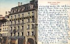 Rarität Foto AK 1911 Bern Hotel Löwen Hotel du Lion Bayrische Bierhalle