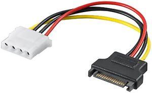 Stromadapter SATA Stecker auf Molex 4pol Buchse   #k542