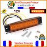 Lumière Signal 12V LED ORANGE Poids Lourd Remorque Camion Camping Car Gabarit