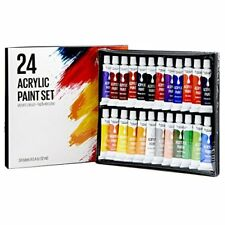 Artlicious - 24 Tube Acrylic Paint Set - Great for Canvas Panels, Boards &