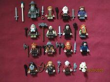 LEGO LOTR / Hobbit Minifigures Lot, Dwarves,Gollum,Gandolf,Weapons ETC