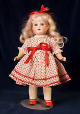 "Antique Heubach 8"" Bisque Head Doll 250 PM Body Cute Vtg Dress Lg Dollhouse Size"