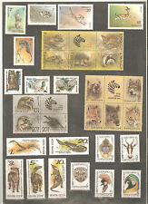 USSR 1980-1990 Lot of  MNH  Stamps **  Animals, Owls - Животные ... n° 5