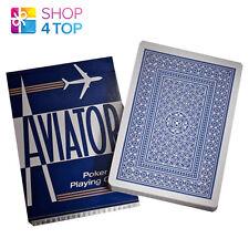 AVIATOR STANDARD INDEX BLUE DECK POKER PLAYING CARDS MAGIC TRICKS USPCC NEW