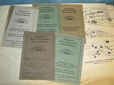 Vintage 1920 German Auto Repair/Course Mechanic Book Lot Popularny Kurs J30