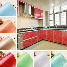 PVC Wallpaper Removable Furniture Cupboard Door Cover Self Adhesive Wall Sticker
