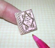 "Miniature Pink Book ""Princess Etiquette"", Blank Pages,:DOLLHOUSE 1/12"