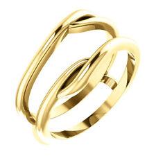 14K Yellow Gold Ring Guard Wrap Enhancer Engagement Bridal Wedding Ring