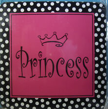 """NEW 1 pc PRINCESS Magnet  Index Gift Imports 3 1/4"""" x 3 1/4"""" Flat Magnet"""