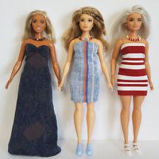 "Fits CURVY BARBIE Clothes 6 Pce Lot Dresses & Jewelry Fashions NO DOLLS d4e ""D"""