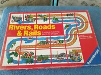 Vintage Rivers, Roads, and Rails Ravensburger Board Game