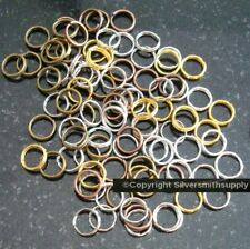 100 7mm split ring clasps 5 color plated finishes split ring jump rings fpc029B