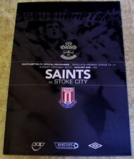 Stoke City Football Programmes with Match Ticket