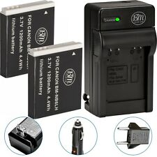BM 2X NB-6L NB6LH Batteries & Charger for Canon PowerShot S120 SX170 IS SX260 HS