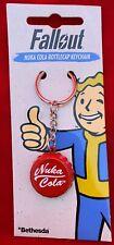 Fallout Metal Keychain NUKA COLA Bottlecap