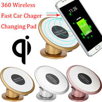 Fast Qi Wireless Car Charger Charging Pad Transmitter Holder For Samsung S7 Edge