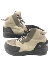 Korkers Double Haul FB3421 Wading Boots Omnitrax Cling On Felt & EXTRA Sole 10M