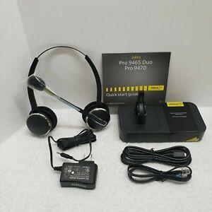 Jabra PRO 9465 Duo Over the Ear Wireless Headset BlackNEW 9400HS 9400BS