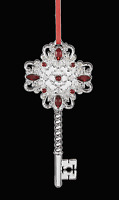 Reed & Barton Holly Berry Key Silver-Plate Ornament