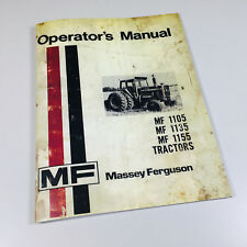 Massey Ferguson Mf 1105 1135 1155 Tractors Operators Owners Manual Maintenance